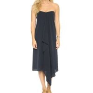 Tibi Strapless Silk towel dress